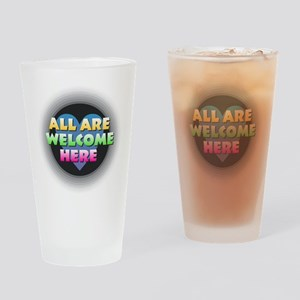 All Are Welcome Here Drinking Glass