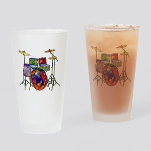 Wild Drums Drinking Glass