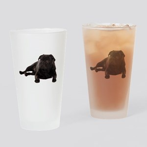 Pug 2 Drinking Glass