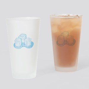 Ice Cubes Drinking Glass