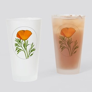 Golden Poppy Drinking Glass