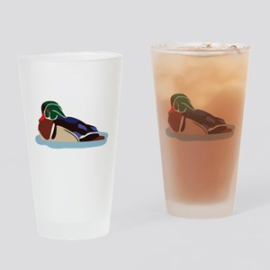 Wood Duck Drinking Glass