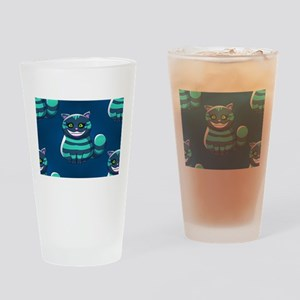 blue Cheshire Cat Drinking Glass