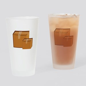 Moving Boxes Drinking Glass
