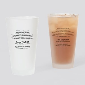 I will find you Follow Instructions Drinking Glass