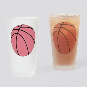 Pink Basketball for Girls Drinking Glass