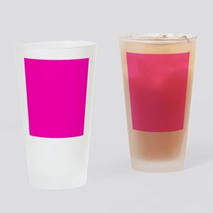Neon Pink Solid Color Drinking Glass