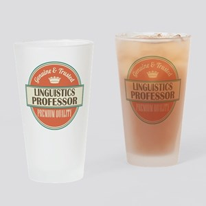 Linguistics Professor Gift Drinking Glass