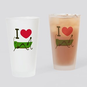 I Love Grasshopper Drinking Glass