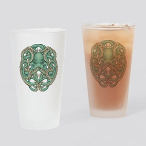 Octopus Emblem Drinking Glass