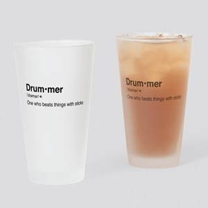 Drummer Definition Drinking Glass