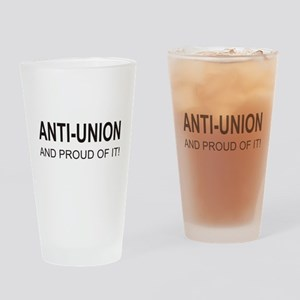 Anti-Union Drinking Glass