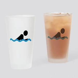 breaststroke Drinking Glass