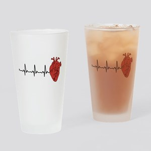 Heart Cardiograph Drinking Glass