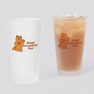 Groundhog's Day! Drinking Glass