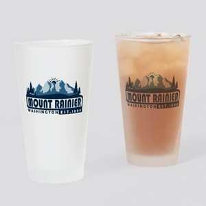Mount Rainier - Washington Drinking Glass