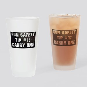 GUN SAFETY TIP Drinking Glass