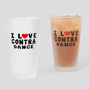 I Love Contra Drinking Glass
