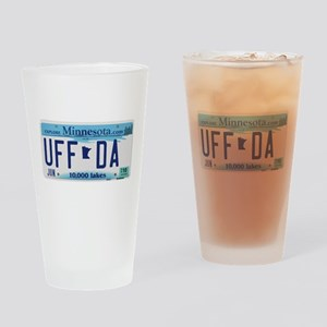 "Minnesota ""Uffda"" Drinking Glass"