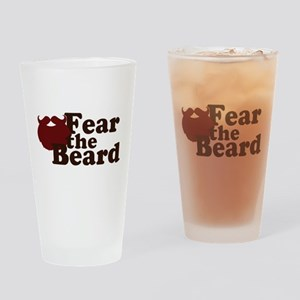 Fear the Beard - Red Drinking Glass
