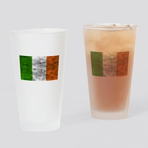 Distressed Ireland Flag Drinking Glass