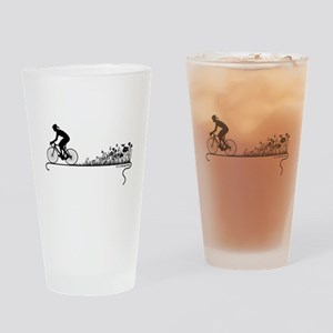 Nature Ride Cycling Drinking Glass