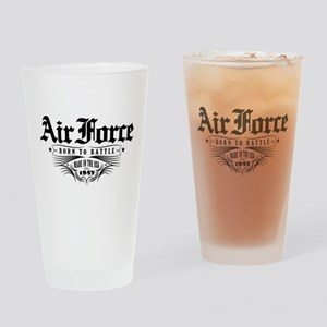 US Air Force Born to Battle Drinking Glass