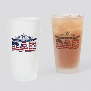 All American Dad Drinking Glass