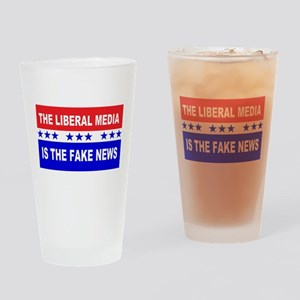 Liberal Fake News Drinking Glass