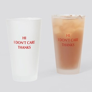 HI-I-DONT-CARE-OPT-RED Drinking Glass