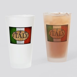 Italian Flag Drinking Glass