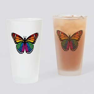 Rainbow Butterfly Pint Glass