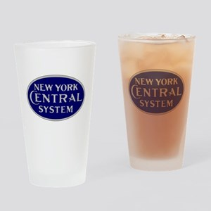 New York Central System logo - blue Drinking Glass