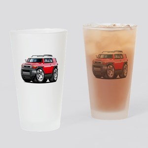 FJ Cruiser Red Car Drinking Glass