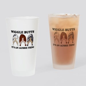 Aussie Wiggle Butts Drinking Glass