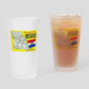 Missouri Map Greetings Drinking Glass