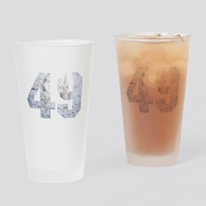 Golf Ball 49 th Birthday Celebratio Drinking Glass