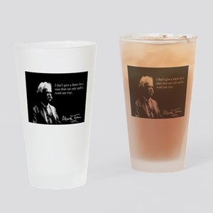 Mark Twain, I Don't Give A Damn, Drinking Glass