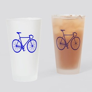 Road Bike - Blue Drinking Glass