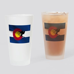 Colorado Skiing Pint Glass
