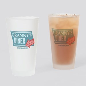 Granny's Diner Drinking Glass