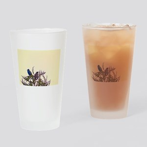 Pair of Starling Birds Drinking Glass