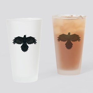 Beadwork Crow or Raven Drinking Glass