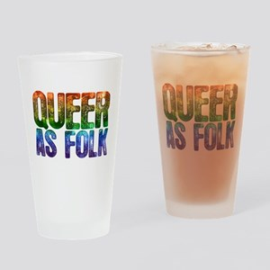 Rainbow Queer as Folk Drinking Glass