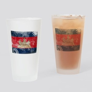Cambodia Flag Drinking Glass