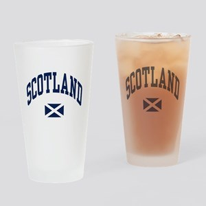 Scotland with Saltire flag Drinking Glass