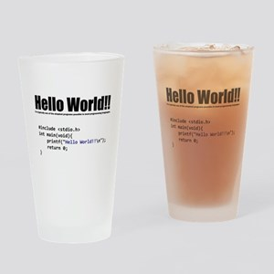 "program that displays a ""hello world"" Drinking Gla"