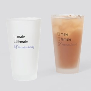 Genderqueer/Trans Human Being Drinking Glass