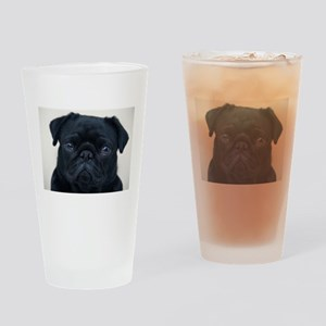 Pug Face Drinking Glass