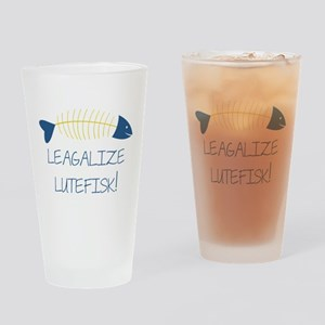 Legalize Lutefisk Fish Drinking Glass